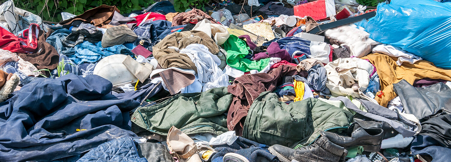 A pile of used clothing